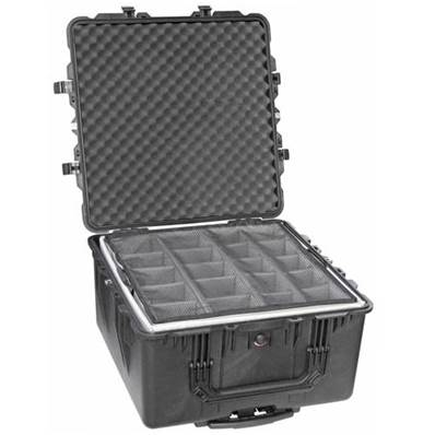 TRANSPORT CASE PELI 1640 NOIRE + KIT CLOISONS + MOUSSE ALVEOLEE