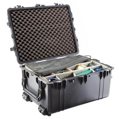 TRANSPORT CASE PELI 1630 NOIRE + KIT CLOISONS + MOUSSE ALVEOLEE