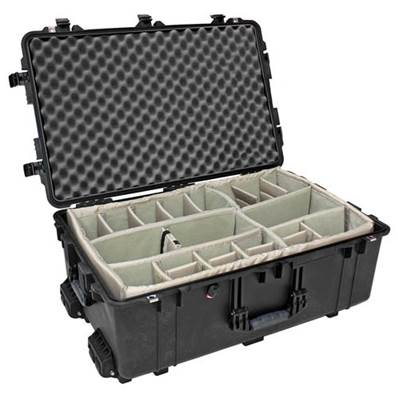 TRANSPORT CASE PELI 1650 NOIRE + KIT CLOISONS + MOUSSE ALVEOLEE